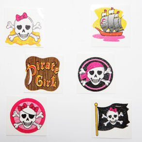 Pink Pirate Glitter Tattoos