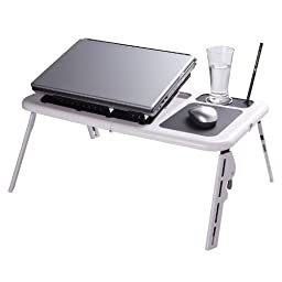 Laptop Table USB Folding E-table with Cooling Fan + Mouse Pad®