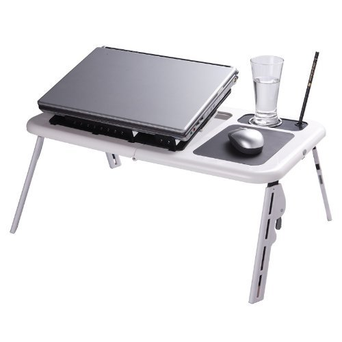 Buy Cheap Laptop Table USB Folding E-table with Cooling Fan + Mouse Pad®