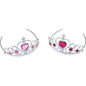 Rhode Island Novelty Tiaras with Heart Stones (12-Pack)