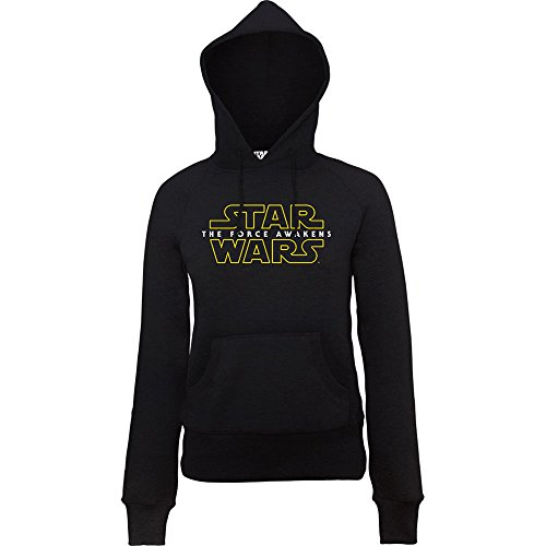 Official Star Wars VII vigore Awakens 2 Logo, dicono le donne s-Felpa con cappuccio nero medium