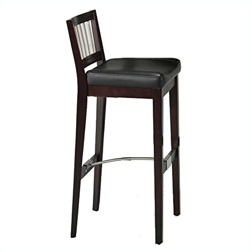 Home Styles 5987-88 Bar Stool with Metal Stretcher, Cherry Finish