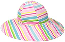 i play. Baby Girls\' Reversible Brim Sun Protection Hat, Hot Pink Multi, 0-6 Months