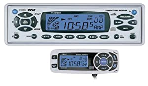 PYLE PLCD15MR AM FM-MPX In-Dash Marine CD MP3 Player with Full Face Detachable Panel... by Pyle