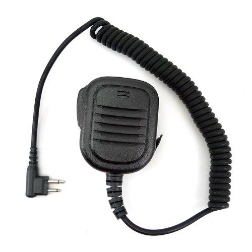Zeadio Waterproof Rainproof Shoulder Remote Speaker 3.5Mm Headphone Jack Mic Microphone For 2 Pin Motorola Radio Gp68 Gp88 Gp88S Xtn446 Xu4100 Cls1450 Vl50 Sv22C Cp88 Cp040 Etc.