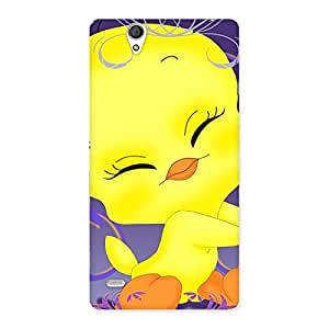 Impressive Yellow Tweet Back Case Cover for Sony Xperia C4