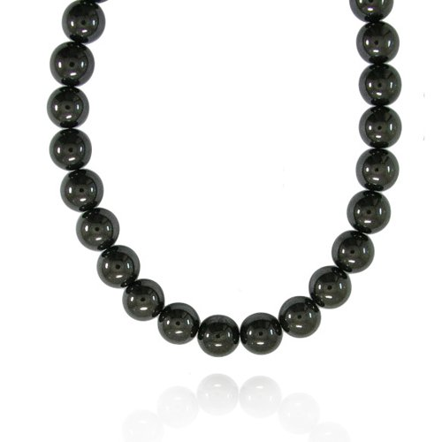 12mm Round Hematite Bead Necklace, 22+2