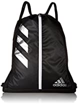adidas Team Issue Sackpack, One Size, Black/Silver