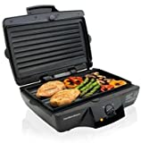 New Hamilton Beach Indoor Double Grill 185 Sq. In. Of Grilling Space Dishwasher Safe Drip Tray