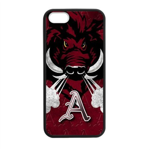 Cool NCAA University Arkansas Razorbacks iPhone 5 5s Case Cover Best Silicone Case for Apple at Amazon.com