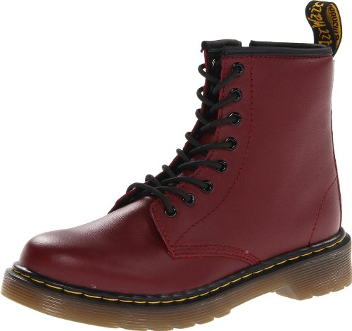 Dr. Martens – Scarpe da barca DELANEY Softy T CHERRY RED, Unisex – bambino