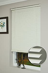 Achim Home Furnishings 1-Inch Wide Window Blinds, 42 by 64-Inch, Alabaster