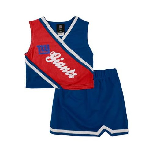 Reebok Two Piece New York Giants Nfl Cheerleader Uniform Set (Size 7/8 To 16) front-915175