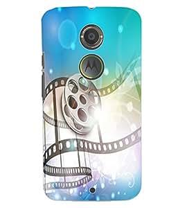 ColourCraft Musical Design Back Case Cover for MOTOROLA MOTO X2
