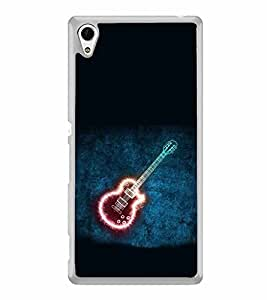 Shining Guitar 2D Hard Polycarbonate Designer Back Case Cover for Sony Xperia Z4