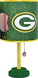 NFL Green Bay Packers Table Lamp with Die Cut Lamp Shade