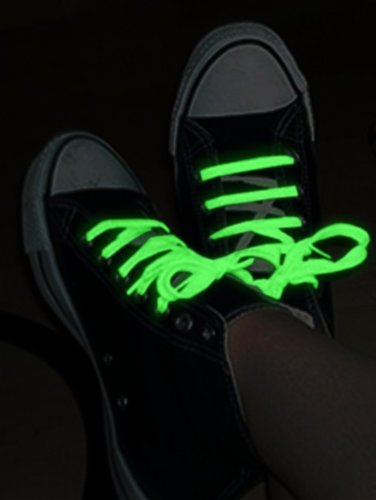 Glow In The Dark Pair Of Shoe Laces (Pastel Green)