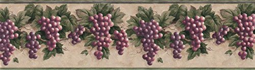 Grape Fruits Wallpaper Border B828VC (Kitchen Wallpaper Border Grapes compare prices)