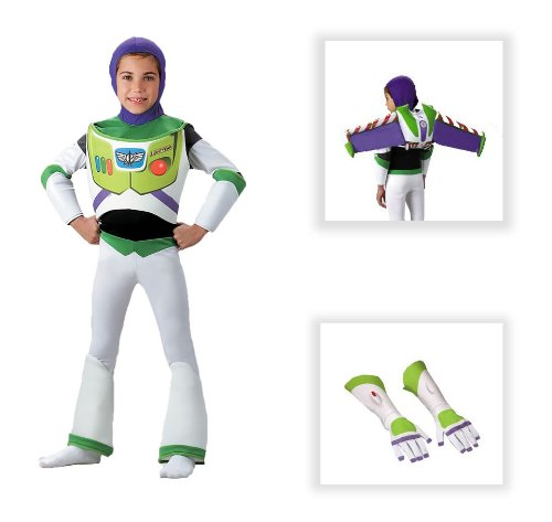 Toy Story Buzz Lightyear Deluxe Child Costume with Jet Pack and Gloves - Medium (7-8)