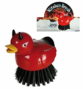 Novelty Devlish Duck Kitchen Brush - Women, Womans, Lady, Ladies, Her Extremely Popular Birthday, Christmas, Xmas Presents, Gifts, Ideas For The Home, House