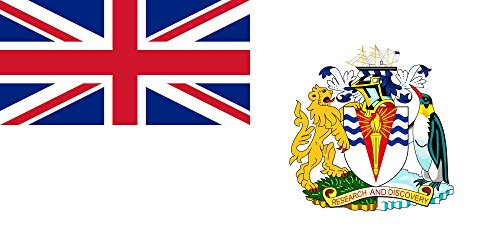 British Antarctic Territory Flag 20x30cm | 8x12in for Diplomat-Flags Car Flag Poles (British Antarctic Territory Flag compare prices)