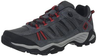 Columbia Men's North Plains Trail Shoe,Coal/Sail Red,9 M US