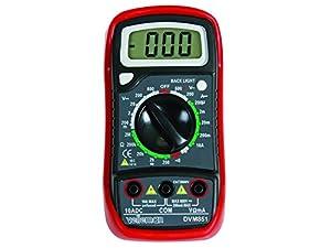 Velleman 37912 Multimètre numérique LCD 10 A avec fonction mémoire