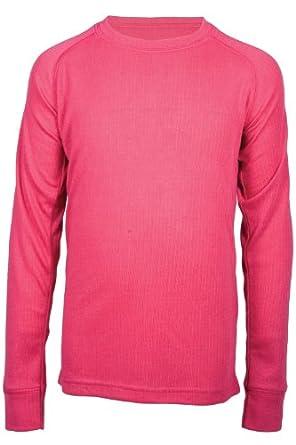 Mountain Warehouse Talus Kids Base Layer Ski Walking Hiking Skiing Long Sleeve Thermal Sweater Top Bright Pink 9-10 years