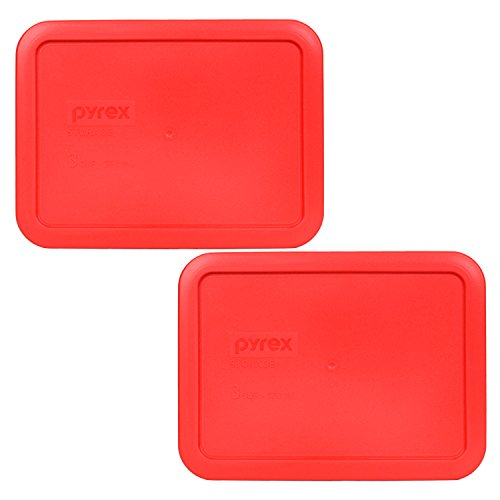 Pyrex 7210-PC Rectangle Red 3 Cup Storage Lid for Glass Dish (2, Red) (Replacement Pyrex Lid 2 Cup compare prices)