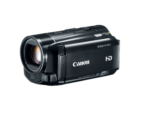 41HLLf3ntEL Canon VIXIA HF M52 Full HD 10x Image Stabilize Camcorder  Wi Fi Enabled with 32 GB Internal Drive Plus Dual SDXC Card Slots and 3.0 Inch Touch LCD
