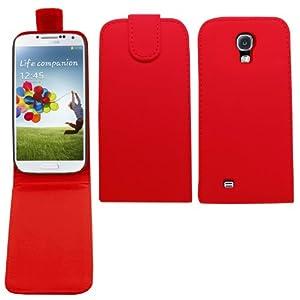 SAMRICK - Samsung i9505 Galaxy S4 IV & SGH-i337 & i9505G Galaxy S4 Google Play Edition - Specially Designed Leather Flip Case - Red