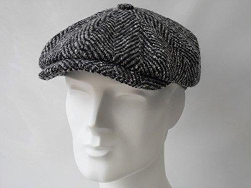 stetson-hombre-hatteras-espina-de-pez-check-cap-gris-otono-invierno-16-hombre-color-negro-tamano-61