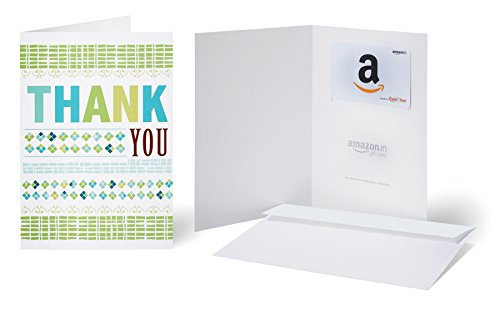 Amazon.in Gift Card with Greeting Card - Rs.500 ( Thank You )