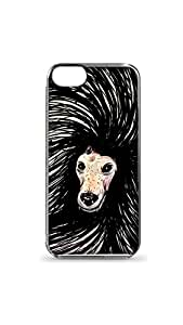 Long Hair Doggy Designer Mobile Case/Cover For Apple iPhone 5/5S 2D Transparent