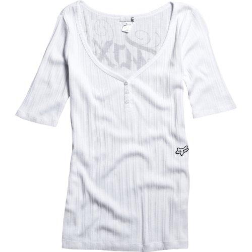 Fox Racing Fueled Girls Top Fashion Shirt - White / Medium