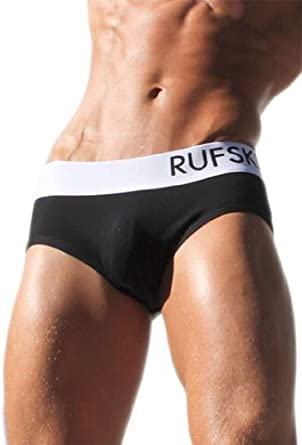 Rufskin Flynn-Ultra Sexy Mens Sporty Jock Brief-Black or White by Rufskin