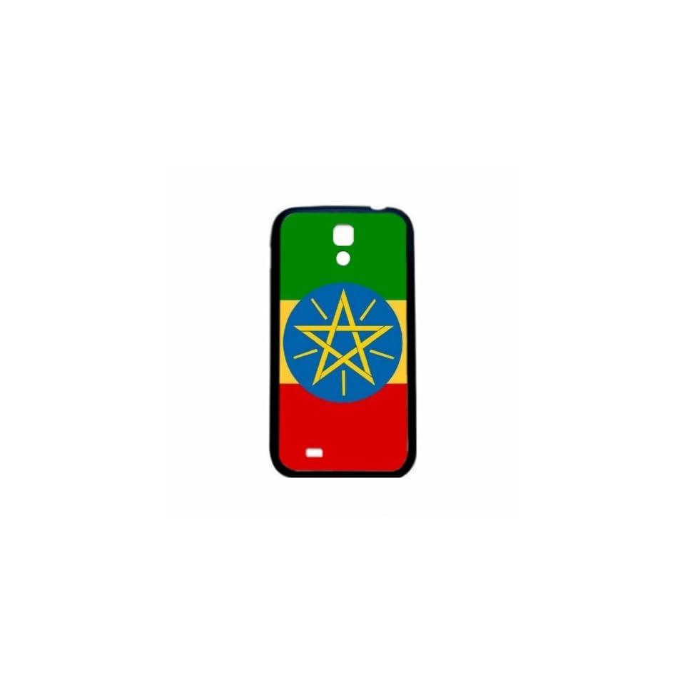 Ethiopia Flag Samsung Galaxy S4 Black Silcone Case   Provides Great Protection