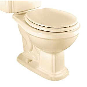 American Standard 3208.016.021 Antiquity/Repertoire Elongated Toilet Bowl with 2-Bolt Caps, Bone (Bowl Only)