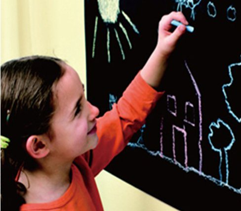 Self-Adhesive Vinyl Chalkboard Wall Stickers Removable Blackboard Decals Great Gift For Kids