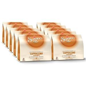 senseo cappuccino caramel nouveaux design lot de 10 10 x 8 dosettes de caf. Black Bedroom Furniture Sets. Home Design Ideas