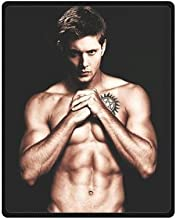 Generic Personalized Jensen Ackles Supernatural Custom Fleece Throw Blanket 40quot x 50quot Inch Sol