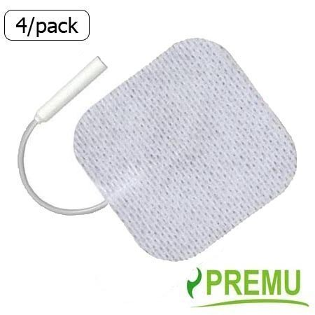 2-packs-of-4-8-total-electrode-pads-2-x-2-square-white-cloth-with-premium-tyco-gel-by-premu