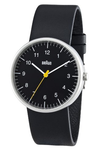 Braun Men's Quartz 3 Hand Movement Watch BN0021BKBKG With Leather Strap