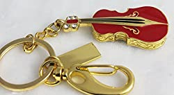 Anyusb081A Fancy Jewellery Red Guitar Shape Pen Drive (8 Gb) + Exclusive Hand Made Gift Box