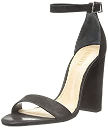 Schutz Women\'s Enida Dress Sandal, Black, 10 M US