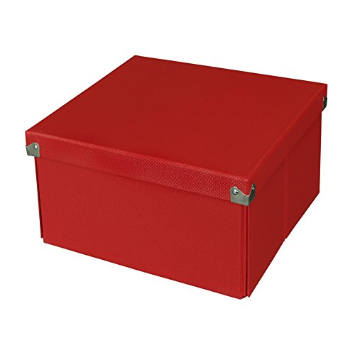Pop n store decorative storage box with lid collapsible and