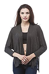 Light weight open front batwing cardigan (Small, Charcoal)