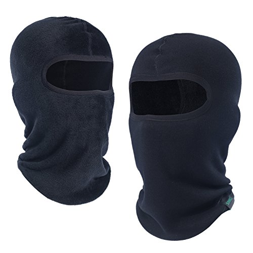 SUNMECI Cotton Velvet Balaclava Helmet Liner Warmer Windproof Thermal Face Mask Cap Black (Skull Cap Pattern Sewing compare prices)