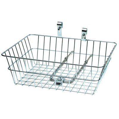Sunlite Large Front Bicycle Basket, Silver