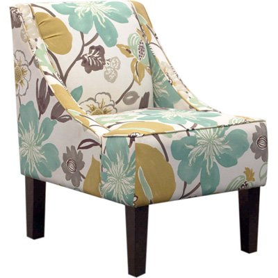 Santa Monica Swoop Upholstered Accent Chair - Blue Gorgeous Pearl